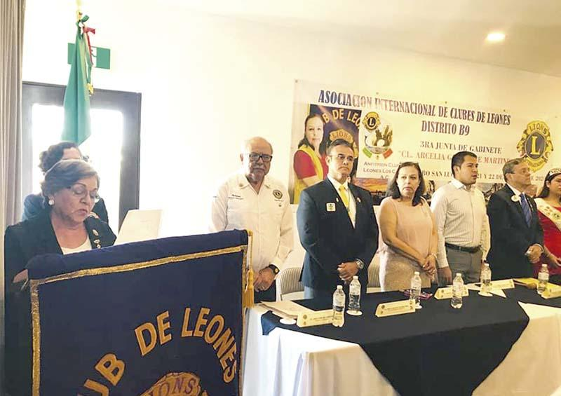 Tercera Junta de Gabinete de Club de Leones Distrito B9 de los clubes de Sinaloa y BCS