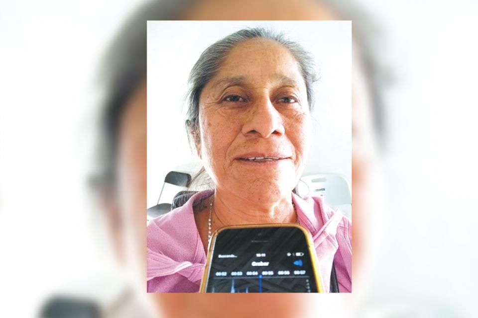 Doña Romí abuelita agradecida pero preocupada por las  calles de su colonia