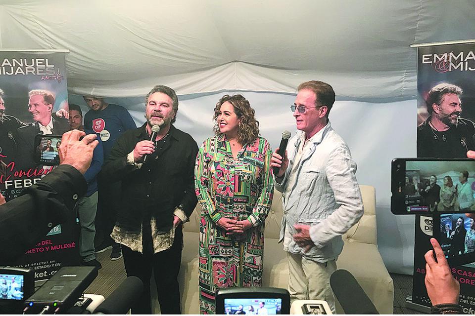Ofrecen Emmanuel y Mijares exitoso concierto con causa en La Paz