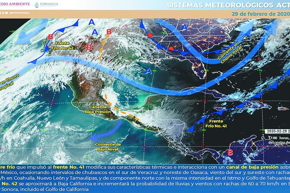 Ingresa a  Los Cabos frente frío, temperaturas bajarán aún más en próximas horas