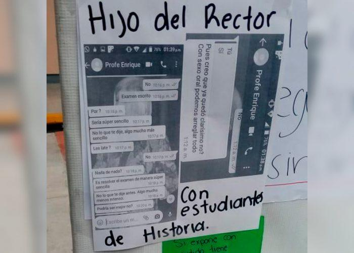 "Acusan al hijo del rector de pedir ""Sexo Oral"" a alumna de la UABCS"