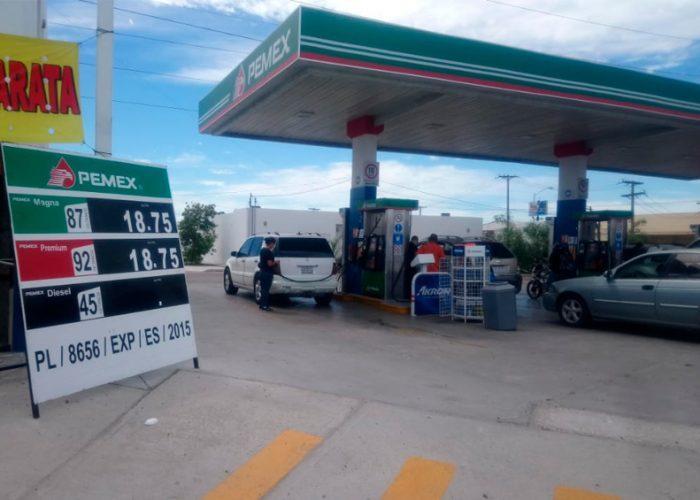Registró La Paz B.C.S. este fin de semana el precio más barato en combustibles