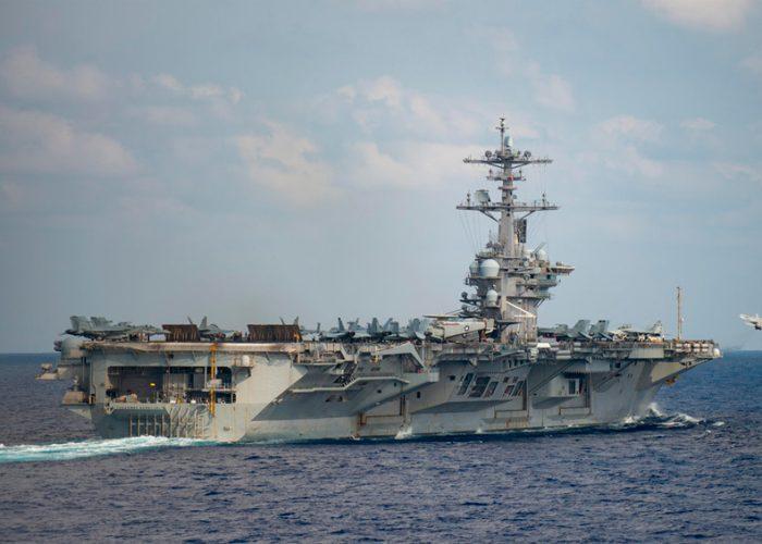 Aislan un portaviones estadounidense por un brote de coronavirus a bordo
