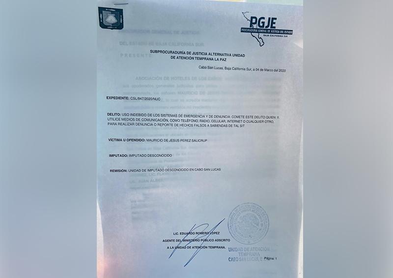 Denuncia Asociación de Hoteles de Los Cabos ante el Ministerio Público falsos rumores sobre el Coronavirus