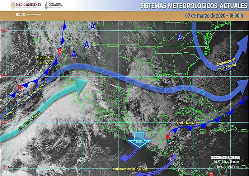 Reportan bajas temperaturas, rachas de viento y densa bruma en Sur de la entidad