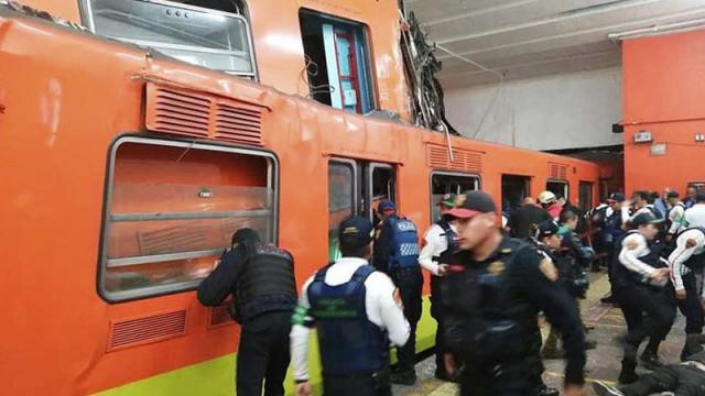 Revelan la posible causa del choque en metro de Ciudad de México