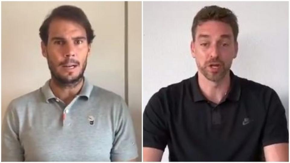 Nadal y Gasol llaman al deporte para vencer al COVID-19