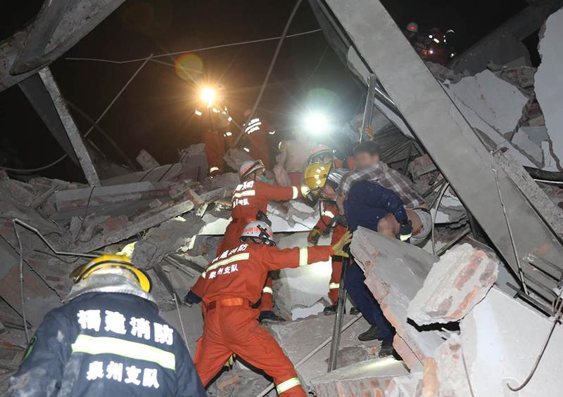 Se derrumba un hotel usado en China para la cuarentena por el coronavirus