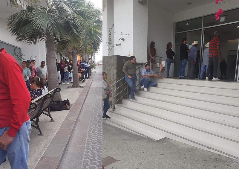 Largas filas afuera de los bancos causa indignación en cuentahabientes