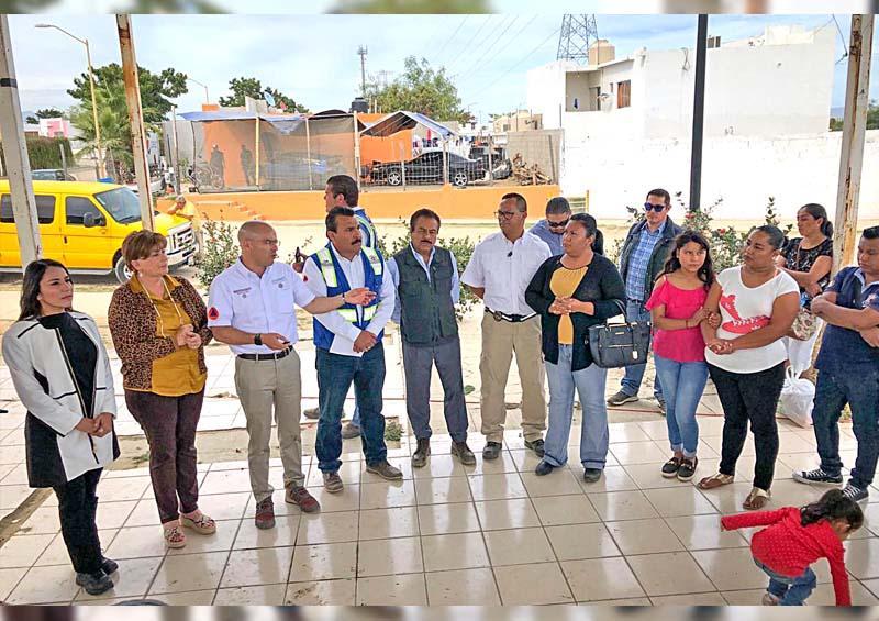 Recorren autoridades obras de mitigación de riesgos en Puerto Nuevo