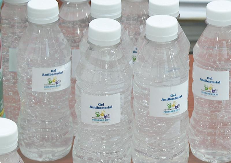 Asociación Civil en La Paz realiza campaña para intercambiar despensas por gel antibacterial