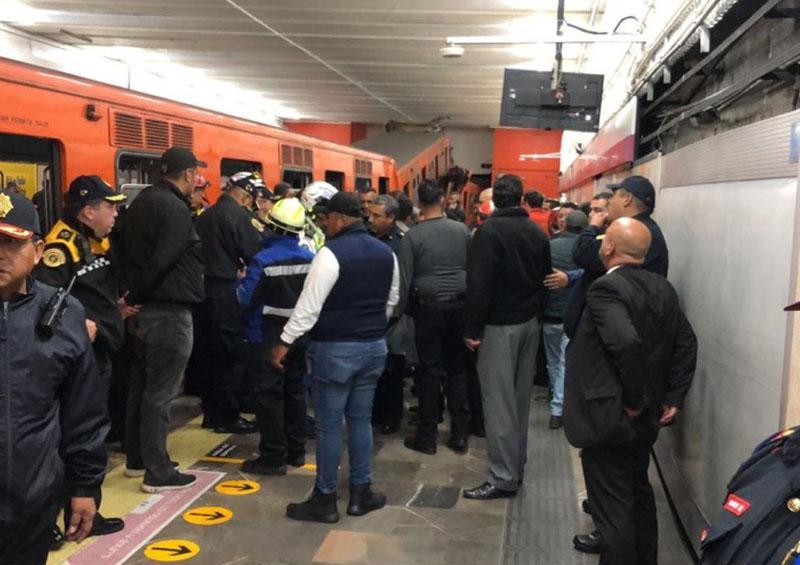 Afecta a 70 mil personas suspensión del servicio tras choque en Metro