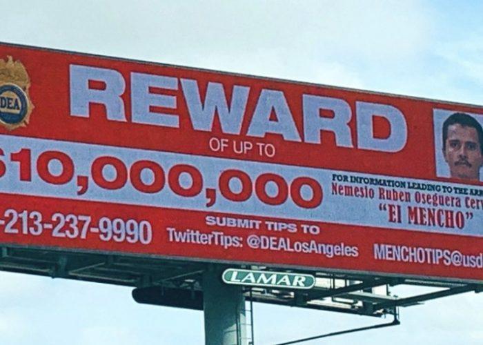 """Ofrecen 10 millones de dólares por """"El Mencho"""""""