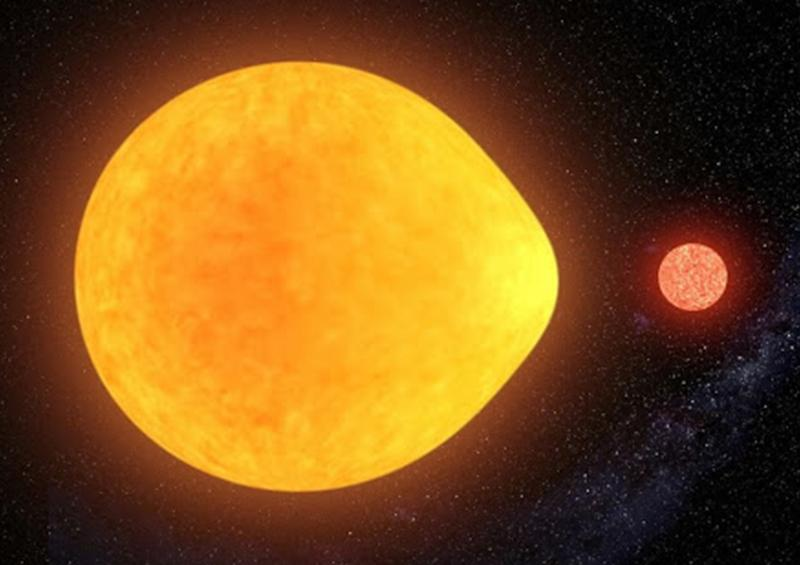Astrónomos hallan una estrella con forma de lágrima