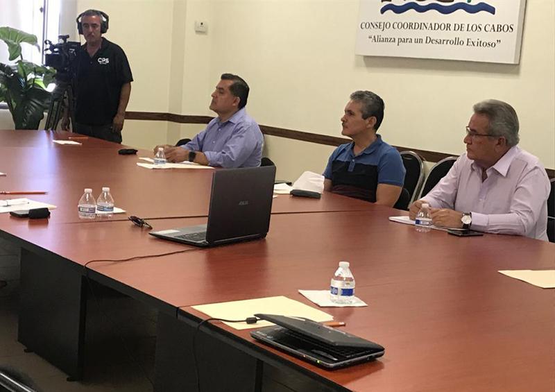 """Reunión """"Estrategia Informativa sobre Covid-19 en el seno del Consejo Coordinador de Los Cabos"""""""