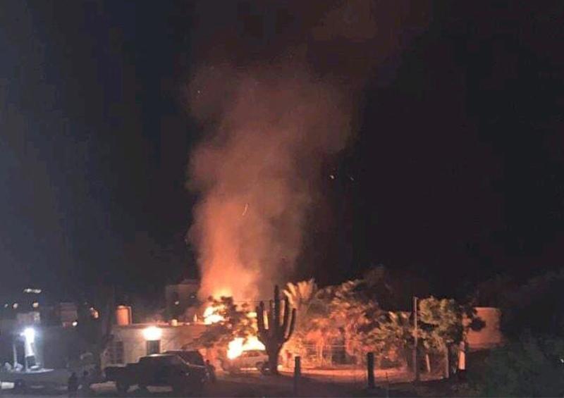 Se incendia vivienda por explosión de gas en La Ventana, municipio de La Paz