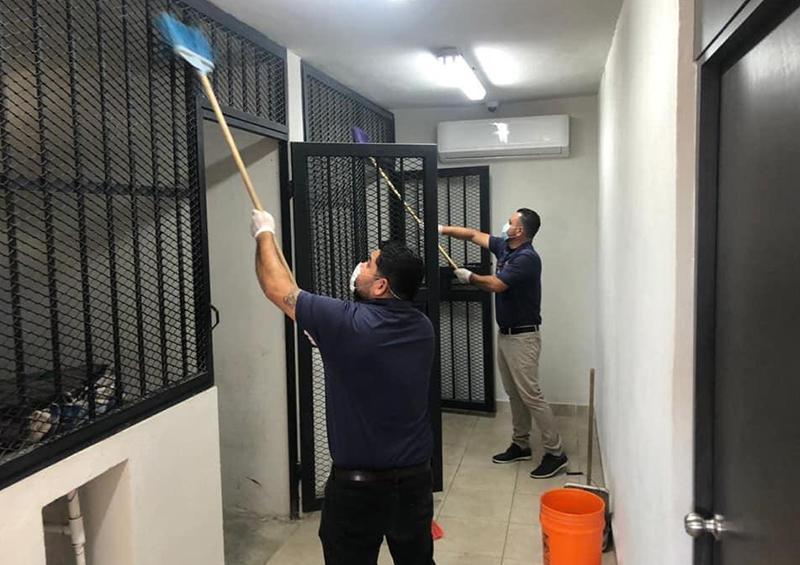Refuerza Seguridad Pública limpiezas en celdas municipales por COVID-19