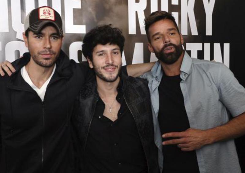 Enrique Iglesias y Ricky Martin se van de gira con Sebastián Yatra