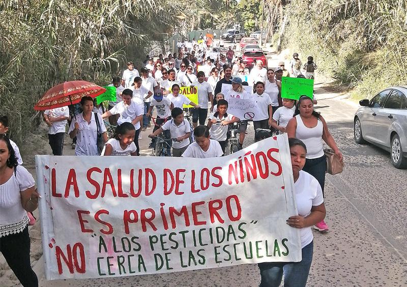 Agroquímicos afectan a niños de primaria; padres toman las calles