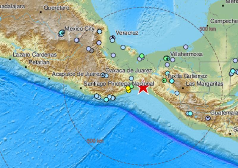 Registran un sismo de 5,5 en México