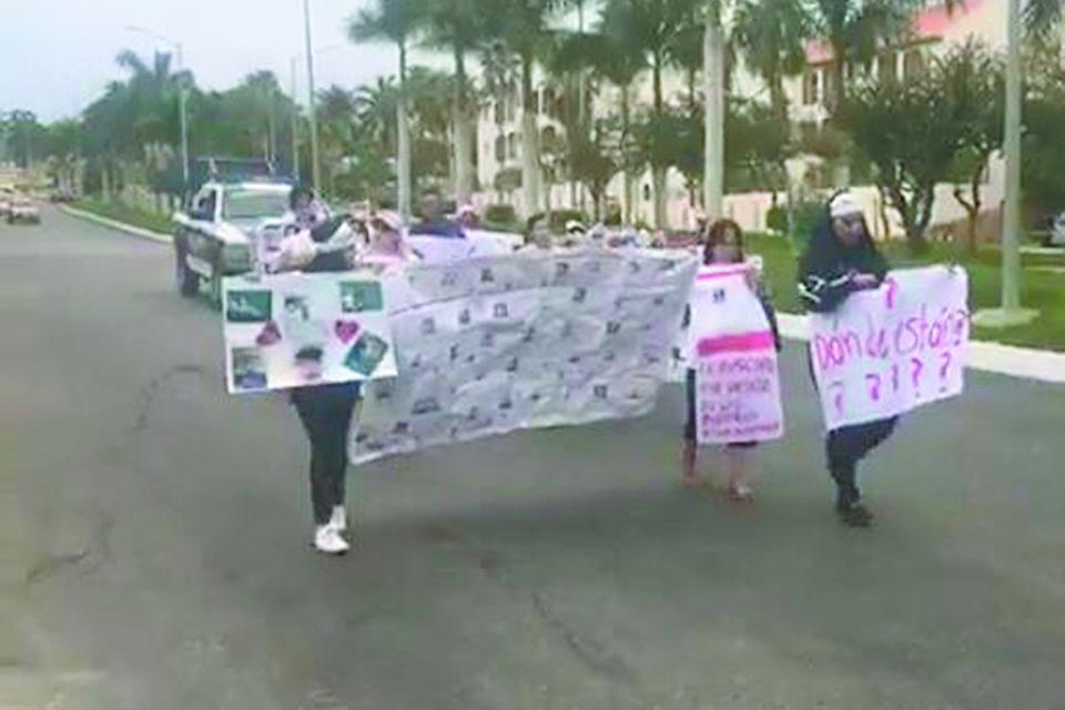 """""""¿Dónde están?"""" familiares de  desaparecidos durante marcha de este domingo en SJC"""