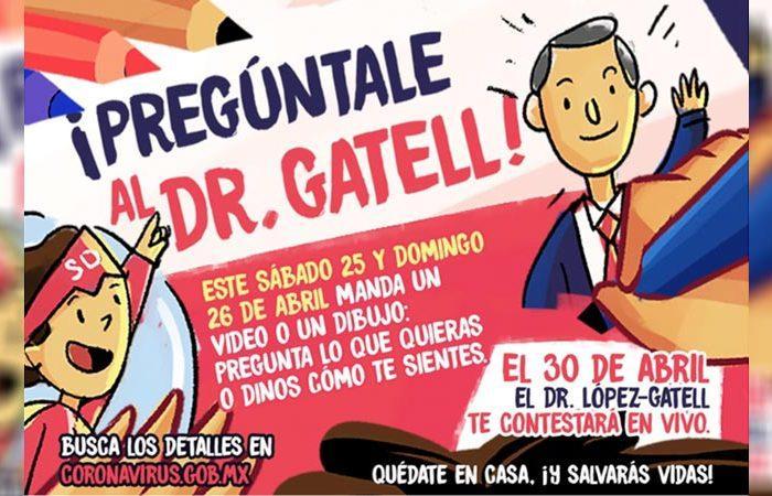 """Conmemorará Salud Día del Niño con """"Pregúntale al Dr. Gatell"""""""