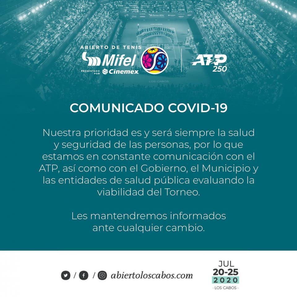 ¿COVID-19 permitirá se realice el Abierto de Tenis Los Cabos?