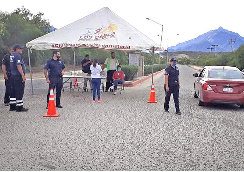 Instalan puesto de control en la  entrada de la delegación de Miraflores