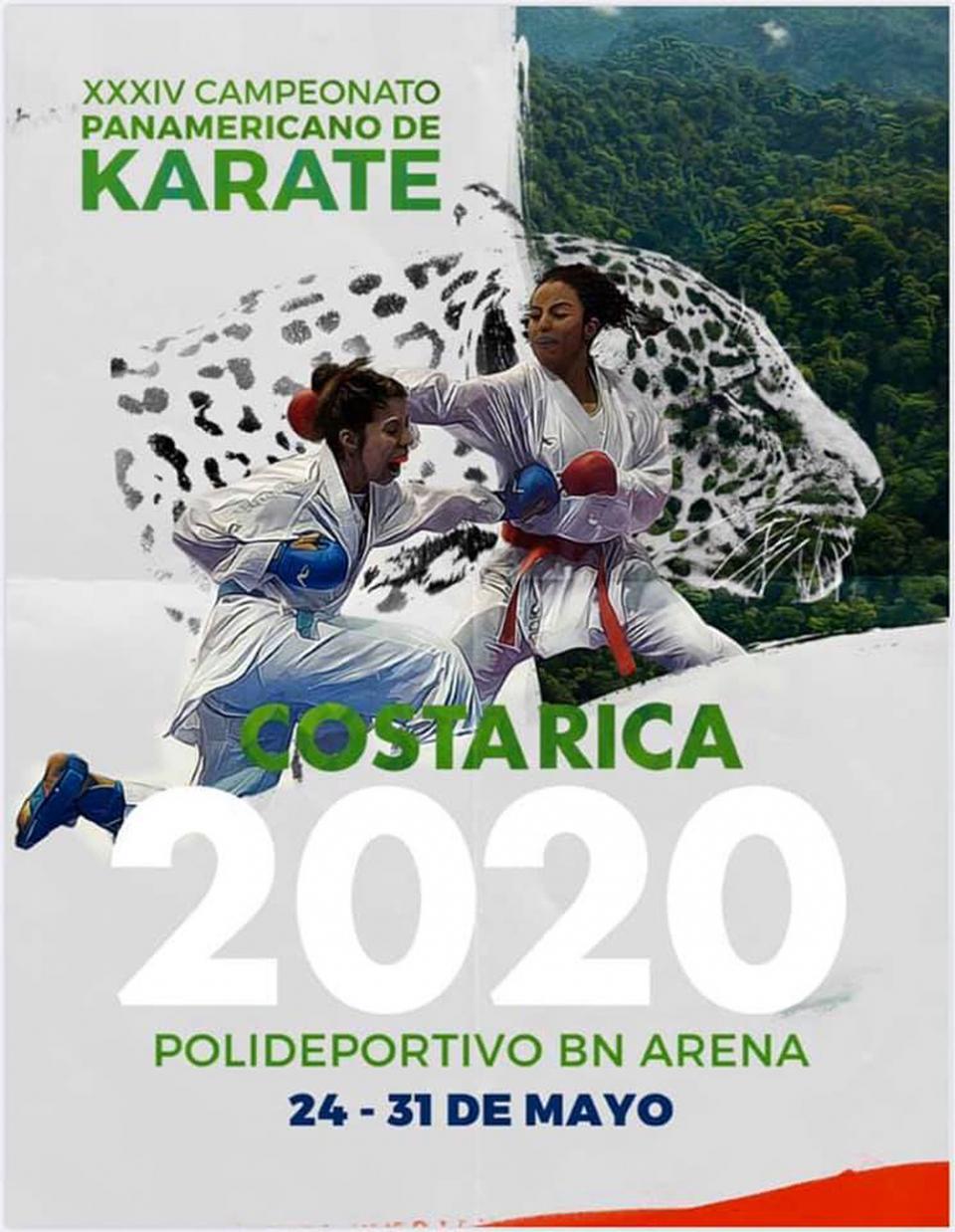 Se suspende el Campeonato Panamericano de Karate en Costa Rica