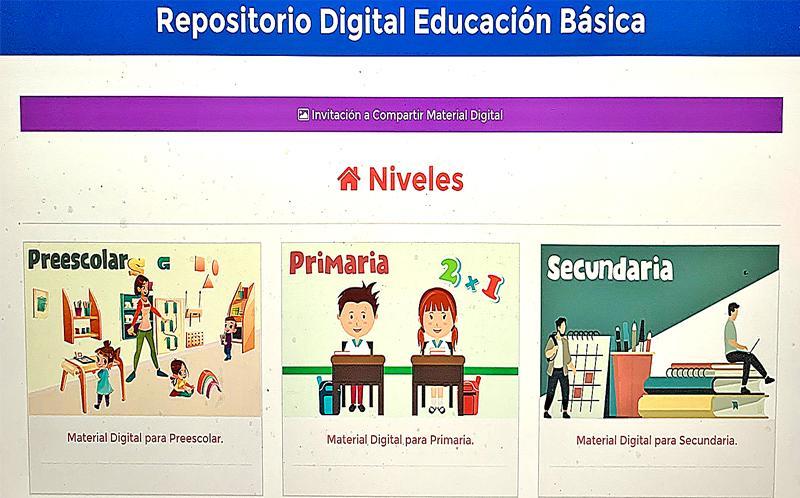 Repositorio Digital un espacio para aprender desde casa: SEP