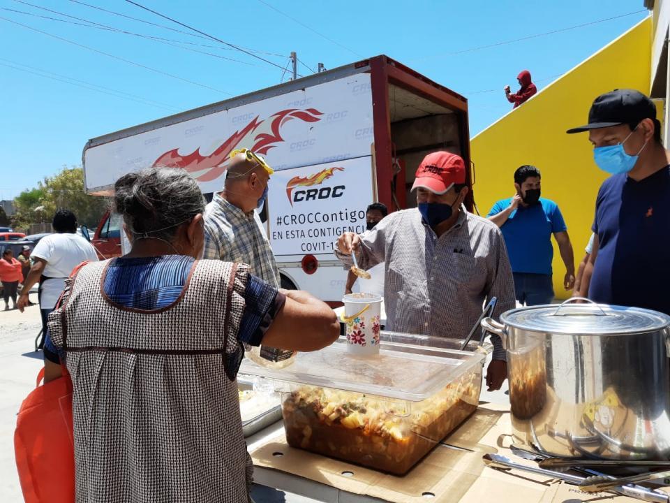 Croc arranca su programa de banco de comida en Vista Hermosa por contingencia sanitaria