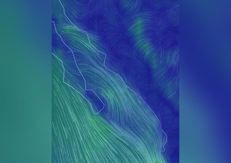 Autoridades Navales reportan fuertes rachas de viento en Sur de la entidad