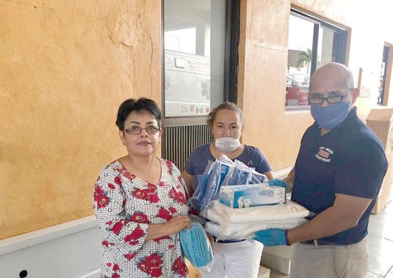Continúa ciudadanía apoyando con material para fabricación de caretas para trabajadores de la Salud