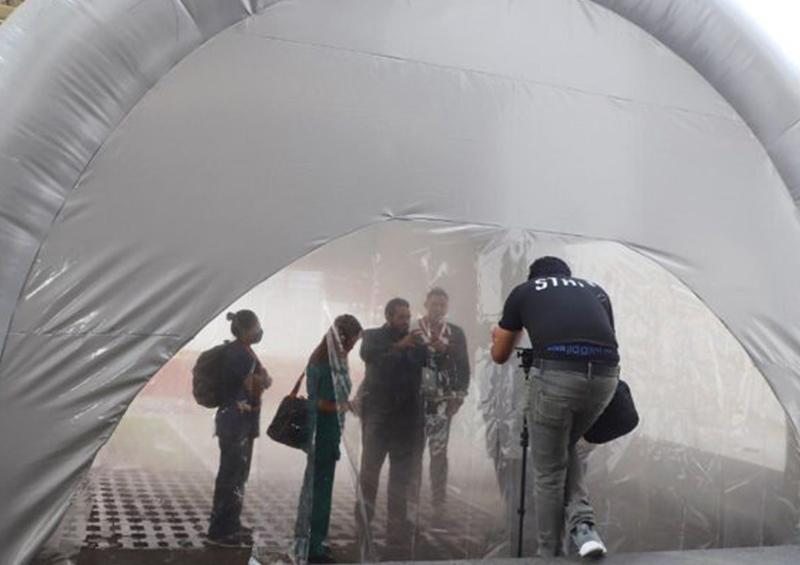 Suspende Salud en Nuevo León uso de túneles sanitizantes