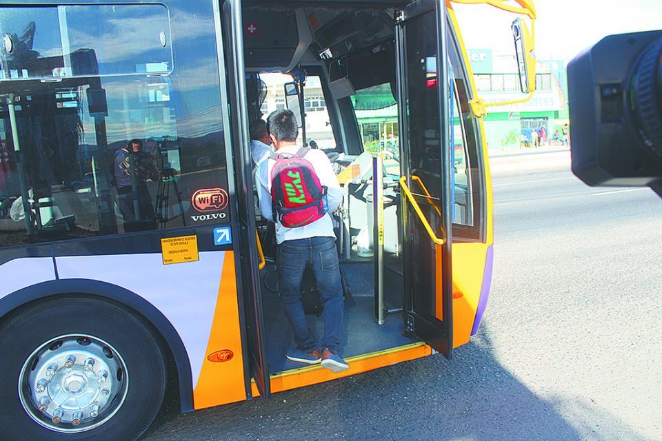 Seguridad Pública realiza supervisión en el transporte público