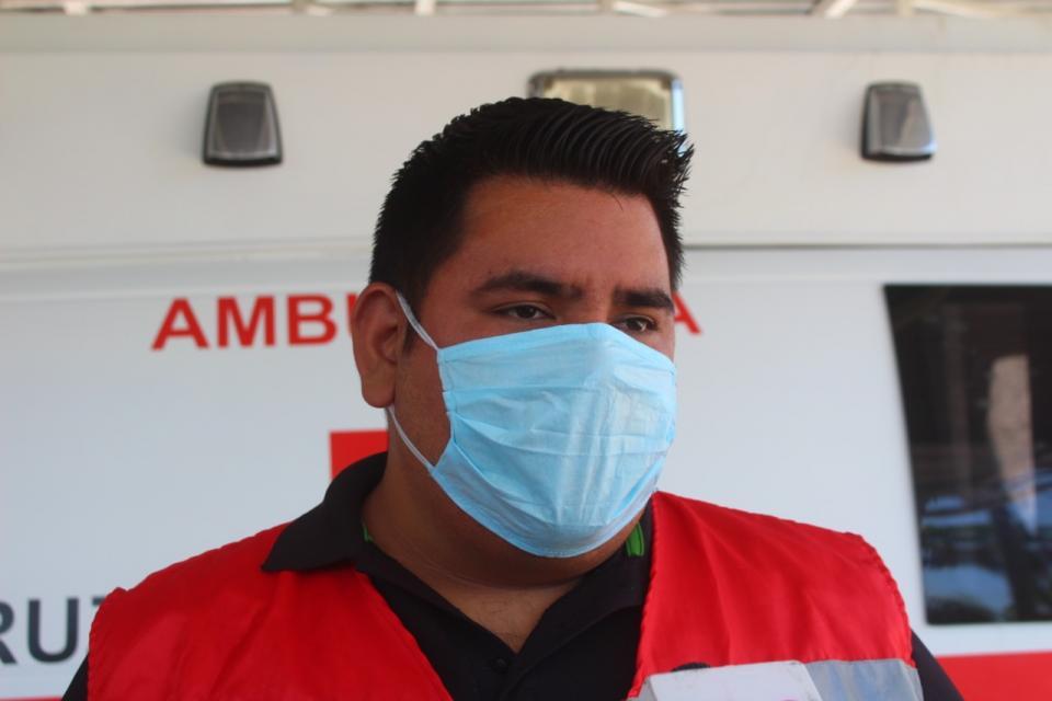 Coordinador local de la Cruz Roja Mexicana reveló que han trasladado en total 11 casos confirmados con Covid-19