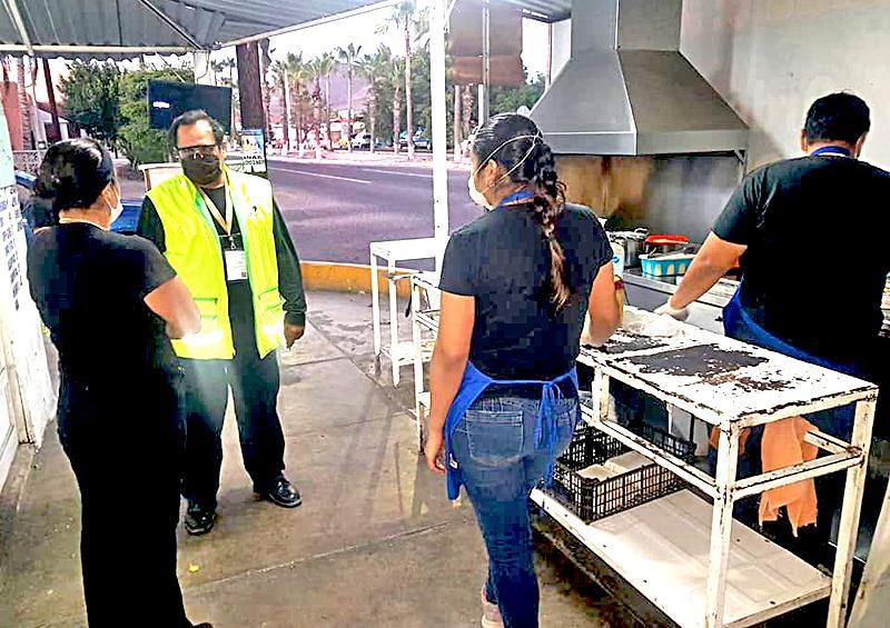 Verifican medidas por contingencia en locales con venta de alimentos