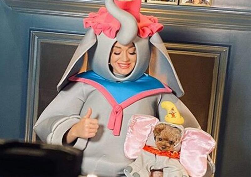 """Vestida de """"Mamá Dumbo"""" Katy Perry celebra el Día de las Madres"""