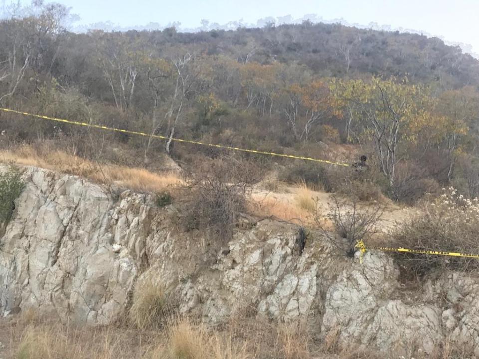 Seguridad pública coloca cinta perimetral en el Cerro de la Chiva