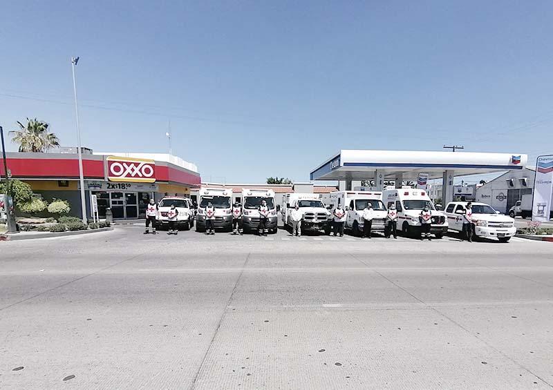 Cruz Roja Mexicana en La Paz recibe donativo de 100 mil pesos en combustible para atender la contingencia