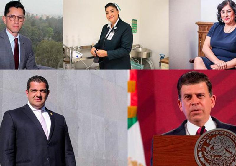 6 altos funcionarios federales, infectados por Covid-19