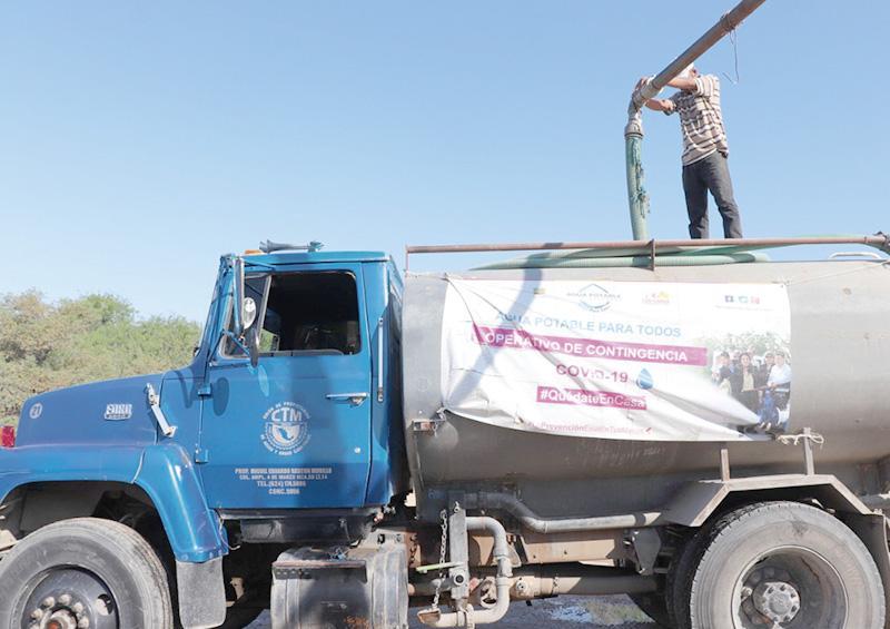 Benefician a más de 600 familias de CSL con suministro gratuito de agua potable