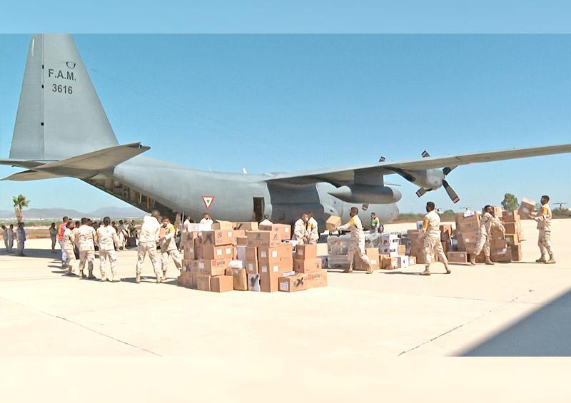Arribó a La Paz una aeronave Hércules C-130 con insumos médicos para Covid-19