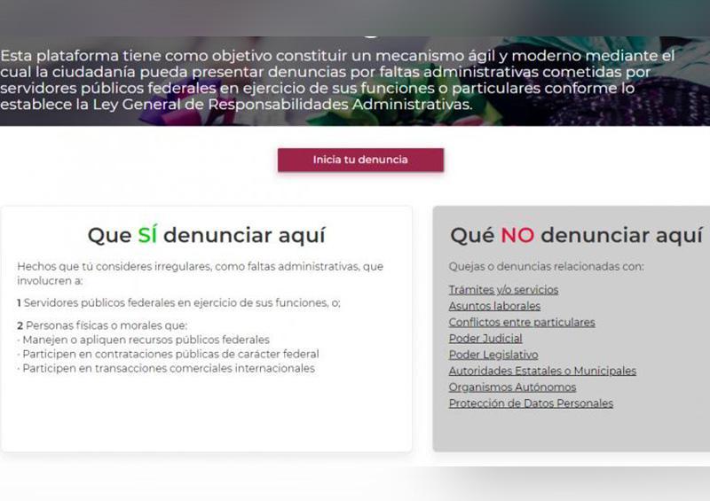Invita SFP a conocer portal para denunciar la corrupción