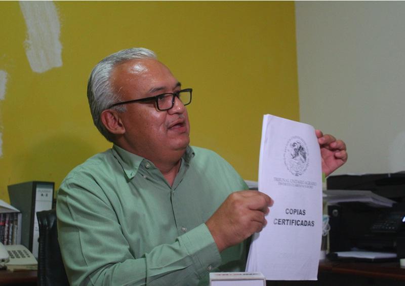 Asesor Jurídico del Ejido señala que ya interpusieron dos denuncias penales en contra del seudolider que incita a invadir