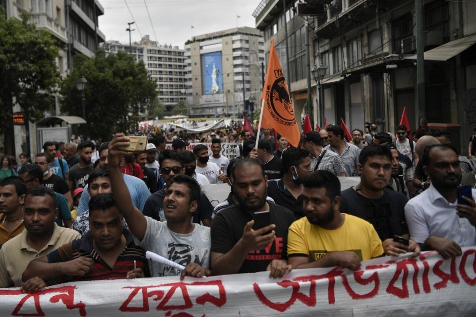 Atenas celebra Día Mundial de los Refugiados con protestas