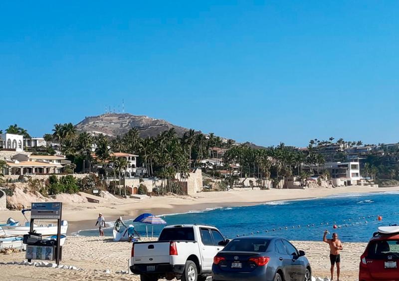 Poca afluencia en playas de Los Cabos con la nueva normalidad
