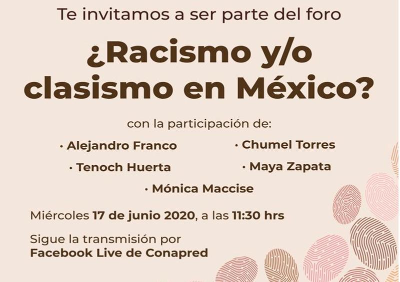 CONAPRED cancela foro por polémica a causa de Chumel Torres