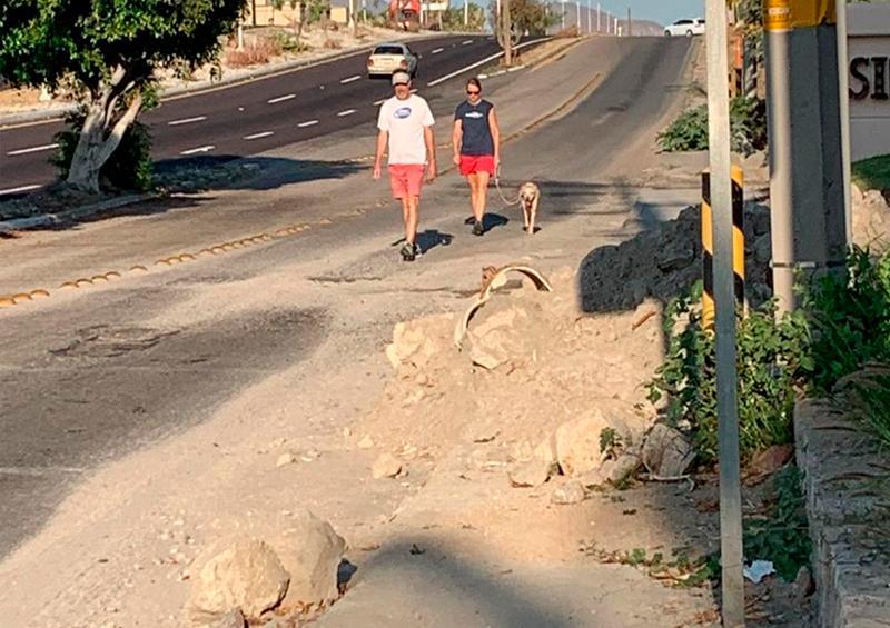 Piden retiro de escombro del Corredor Turístico
