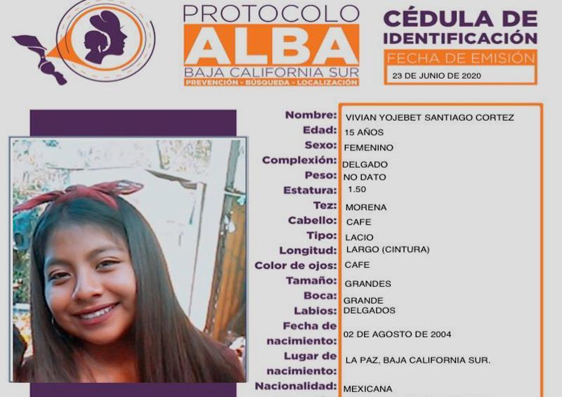 Solicitan ayuda para encontrar a Vivian de 15 años en La Paz